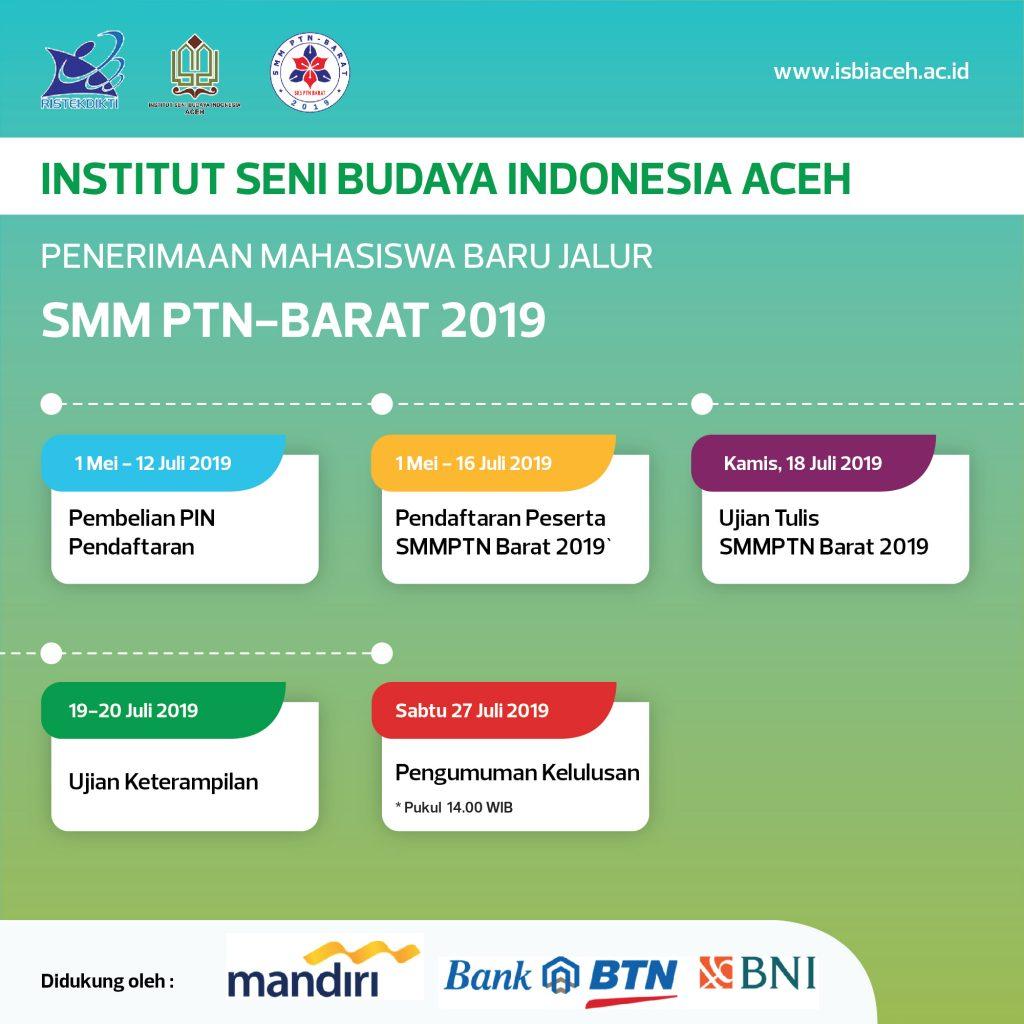 ISBI ACEH KEMBALI MEMBUKA PENERIMAAN MAHASISWA BARU JALUR SMM PTN-BARAT 2019