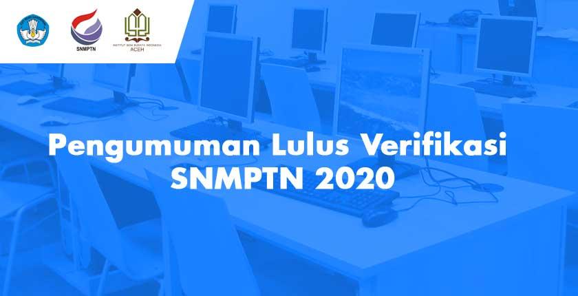 Pengumuman Lulus Verifikasi SNMPTN 2020