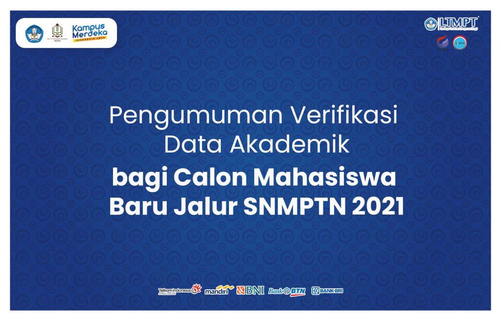 Pengumuman Daftar Ulang bagi Calon Mahasiswa Baru Jalur SNMPTN 2021